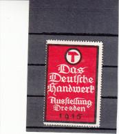 """Vignette, Werbemarke, Dresden, Ausstellung """"Das Deutsche Handwerk 1915"""" - Alte Papiere"""