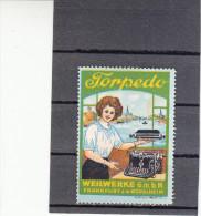 Vignette, Werbemarke, Torpedo Weilwerke In Frankfurt Rödelheim, Firmenwerbung, Ca. 1910 - Alte Papiere