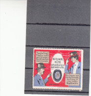 Vignette, Werbemarke, Kopfwohl Hüte, Hut-Werbung, Ca. 1900 - Alte Papiere
