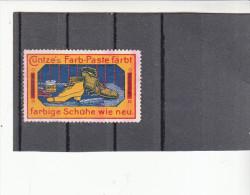 Vignette, Werbemarke, Cuntzes Farb-Paste, Schuhpflege, Ca. 1910 - Alte Papiere
