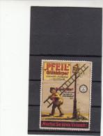 Vignette, Werbemarke, Pfeil Gühkörper Werbung, Glühbirnen, Leuchtkörper, Ca. 1910 - Alte Papiere