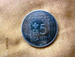 5 Francs Commémorative Henri Pestalozzi 1977 - Svizzera