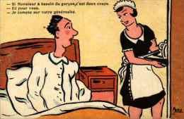 Illustrateur Ancy - Besoin Du Garçon, C´est Deux Coups Pour Moi, Votre Générosité - Künstlerkarten