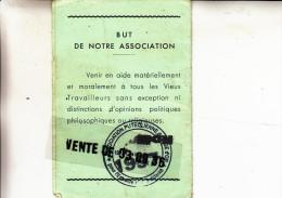 Association Republicaine Des Vieux Travailleurs De Puteaux-carte D'adhérent 1996 - Old Paper
