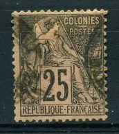 FRANCE ( COLONIES ) :  Y&T N°  54  TIMBRE  AVEC  BELLE  OBLITERATION  ,  A  VOIR .