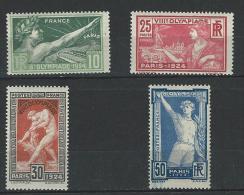 """YT 183 à 184  """" Jeux Olympiques De Paris, 4 TP """" 1924  Neuf **"""