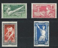 """YT 183 à 186  """" Jeux Olympiques De Paris"""" 1924  Neuf **"""