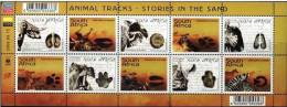 South Africa 2006 Animal Tracks Minisheet MNH - South Africa (1961-...)
