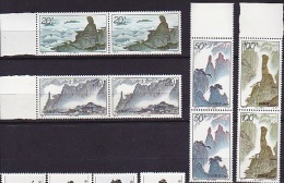 CHINE CHINA   1995      Géologie      Mont Sanqing     2 X 4v.