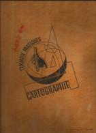 Cahier Grand Format à Ressort Travaux Pratiques Années 50-60 Pas De Marque Couverture à Motif - Blotters