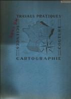Cahier Grand Format à Ressort Travaux Pratiques Années 50-60 Pas De Marque Couverture à Motif - T