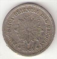 Uruguay 5 Centesimos 1901  Km 21  Vf - Uruguay