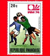 RWANDA - Usato - 1974 - Coppa Del Mondo Di Calcio - Germania - Yugoslavia-Zaire - 20 - Rwanda