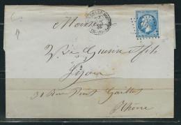 FRANCE 1866 N° 22   Obl. S/Lettre GC 923 Chateau Renard En Provence - 1862 Napoleon III