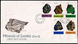 Zm0370f ZAMBIA 1982, SG 370-4 Minerals (2nd Series)  FDC - Zambia (1965-...)