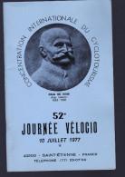 CONCENTRATION INERNATIONALE DU CYCLOTOURISME PAUL DE VIVIE ANNEE 1977 - Programmes