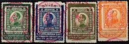 YOUGOSLAVIE - 4 Valeurs De 1921 Sur Porte-timbres - Oblitérés