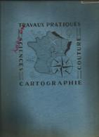 Cahier Grand Format à Ressort Travaux Pratiques Cartographie , Sciences  Années 50-60 Pas De Marque , Utilisé - Blotters