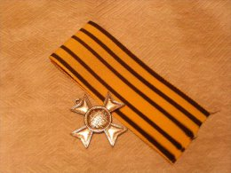 MEDAILLE RUSSE : Décoration ** CROIX DE ST GEORGES ** 1810   Reproduction ( Argent ) - Médailles & Décorations