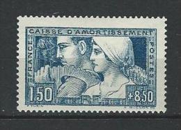"YT 252  "" Caisse D´amortissement 1F50 + 8F50 Bleu "" 1928 Neuf**"
