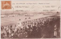 CPA 14 Calvados   Deauville  Course Hippique  , La Plage Fleurie    N°439 - Deauville
