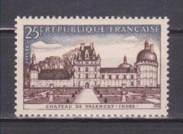 FRANCE / 1957 / Y&T N° 1128 ** : Château De Valencay - Gomme D´origine Intacte - Ungebraucht