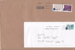 Timbres Sur Lettres Nouvelles Oblitérations - Marcophilie (Lettres)