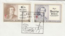 1983 FINLAND COVER  Mariehamn CAMPING WINDMILL EVENT Pmk  0.60+0.10, 1.10+0.20 TB TUBERCULOSIS Stamps To Sweden - Finland