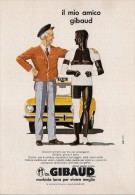 # DR.GIBAUD FASCIA ELASTICA 1960s Italy Advert Pubblicità Reklame Elastic Band Medicine Medecine Medizin Taxi Yellow Cab - Pubblicitari