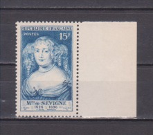 FRANCE / 1950 / Y&T N° 874 ** : Mme De Sévigné X 1 BdF D - Gomme D'origine Intacte - Unused Stamps