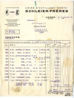 HAGEN  HAGEN USINE D OUTILLAGE GESTA SCHLEIER FRERES   FACTURE1928 - Droguerie & Parfumerie