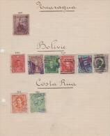 BOLIVIE - NICARAGUA - COSTA RICA  - LOT DIVERS - 1€ - Bolivie