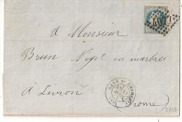GC 4077 Valence Sur Rhone + GARE DE CHAMBERY Sur Lettre Pour Livron. - Marcophilie (Lettres)