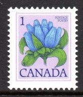 Canada 1977-86 Definitives - 1c Bottle Gentain - P.13x13½ - MNH (SG 862b) - 1952-.... Reign Of Elizabeth II