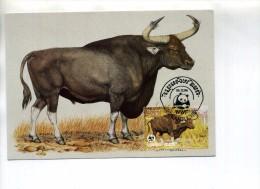 Maximum Card  Kampuchea1986 - Wildrinder WWF - Kampuchea