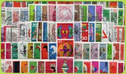 125 Verschiedene Sondermarken Bund 1955 - 1999 O 75€ Bundesrepublik Deutschland Wiener Tasche Various BRD Lot Of Germany - Collections (sans Albums)