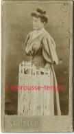 Format Mignonnette CDV 4,3 X 7,9cm-dame Au Chignon-photo E. Sentier Boulevard Ornano à Paris - Photos