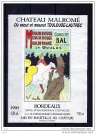 EROTIQUES - La Goulue -(Etiquettes Légèrement Collées  Sur Page D´expo) - Erotic