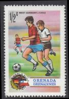 Grenada Grenadines 1974 World Cup. Germany Against Chile. Mi 17 MNH - Coppa Del Mondo