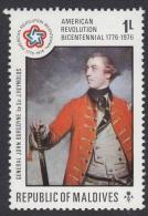 Maldives 1976 American Revolution Bicentennial 1776-1976. General John Burgoyne. Mi 642 MNH - Us Independence