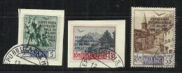SAN MARINO 1950 POSTA AEREA AIR MAIL FIERA DI MILANO FAIR SERIE COMPLETA COMPLETE SET USATA USED OBLITERE' - Posta Aerea