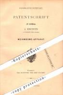 Original Patent - A. Kirchner In Illingen , Württemberg , 1880 , Wein - Wärmeapparat , Weinbau , Brauerei , Brennerei !! - Deutschland