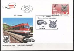 Österreich-  FDC    MI.Nr.  2059     -        100 Jahre Gewerkschaft Der Eisenbahner Naturwissenschaftler - FDC