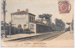 LOUVRES - Intérieur De La Gare - TRAIN - Louvres