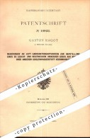 Original Patent - Gaston Ragot In Ixelles - Bruxelles , 1880 , Leuchtstoff Aus Naphta , Beleuchtung !!! - Belgique