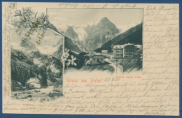 Gruß Aus Trafoi Hotel Neue Post Ortler-Gruppe, Gelaufen 1901 (AK357) - Bolzano (Bozen)