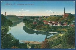 Halle An Der Saale Saalepartie Bei Cröllwitz, Gelaufen 1912 (AK401) - Halle (Saale)