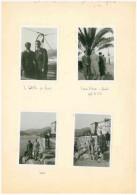 FRA039 QUATTRO FOTO ORIGINALI ANTICHE GITA A LA SPEZIA 24 MARZO 1935 FORMATO FOTO CM 8,5x6 LE QUATTRO FOTO SONO ATTACCAT - Persone Anonimi