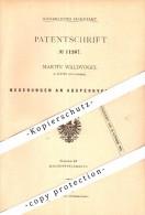 Original Patent - Martin Waldvogel In Pitten , Niederösterreich , 1880 , Absperrventil Für Dampfmaschine !!! - Pitten