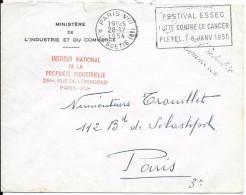 LF -433 Lettre à En Tête Ministère De L'Industrie Et Du Commerse De 1954 - Marcophilie (Lettres)